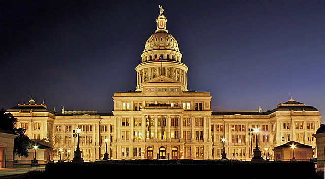 640px texas state capitol night